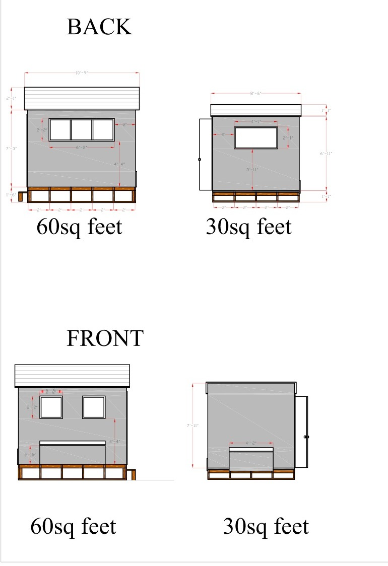 Free chicken coop blueprints 2 sizes for Chicken coop dimensions