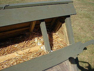 Chicken Ark, Perch, and Nesting Boxes