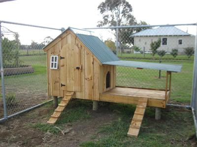 The coop just erected