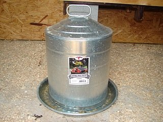 metal chicken waterer